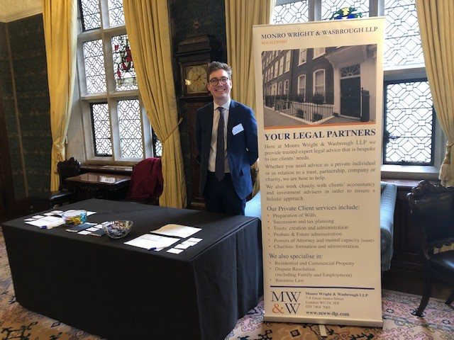 Our newly qualified Private Client Solicitor, Sam Alder, at the ICAEW IHT Conference held at Ironmongers Hall, Barbican.